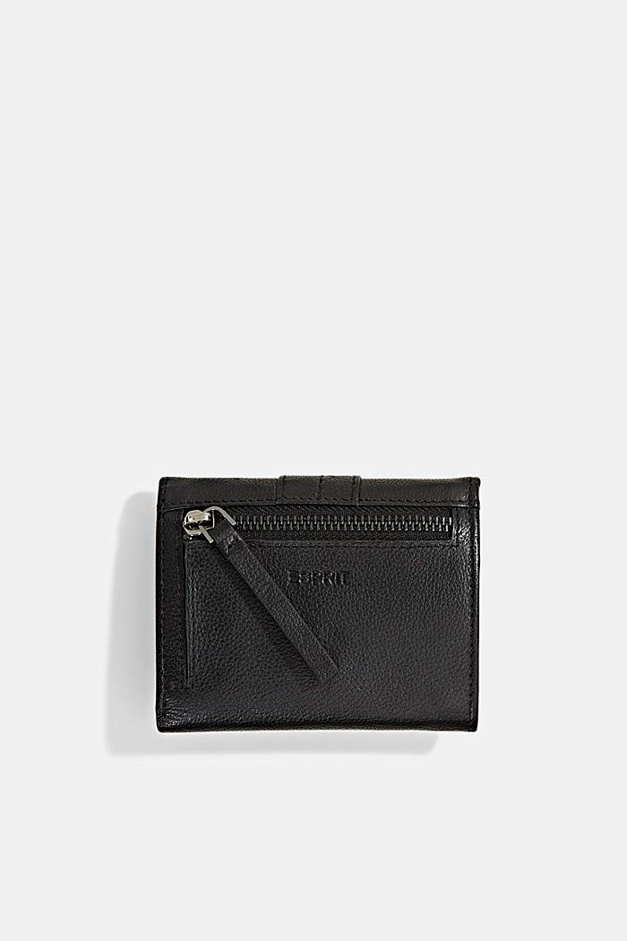 Billetera pequeña de piel, BLACK, detail image number 2