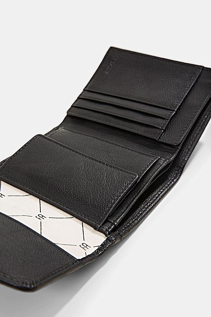 Billetera pequeña de piel, BLACK, detail image number 3