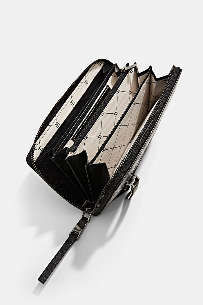 Leather purse, BLACK, detail image number 3