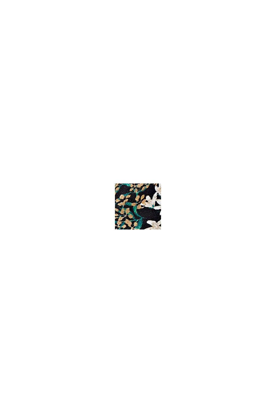 Met zijde: haarband met bloemenmotief, BLACK, swatch