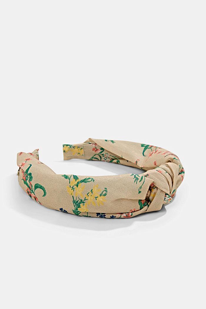 Met zijde: haarband met bloemenmotief, SAND, detail image number 1