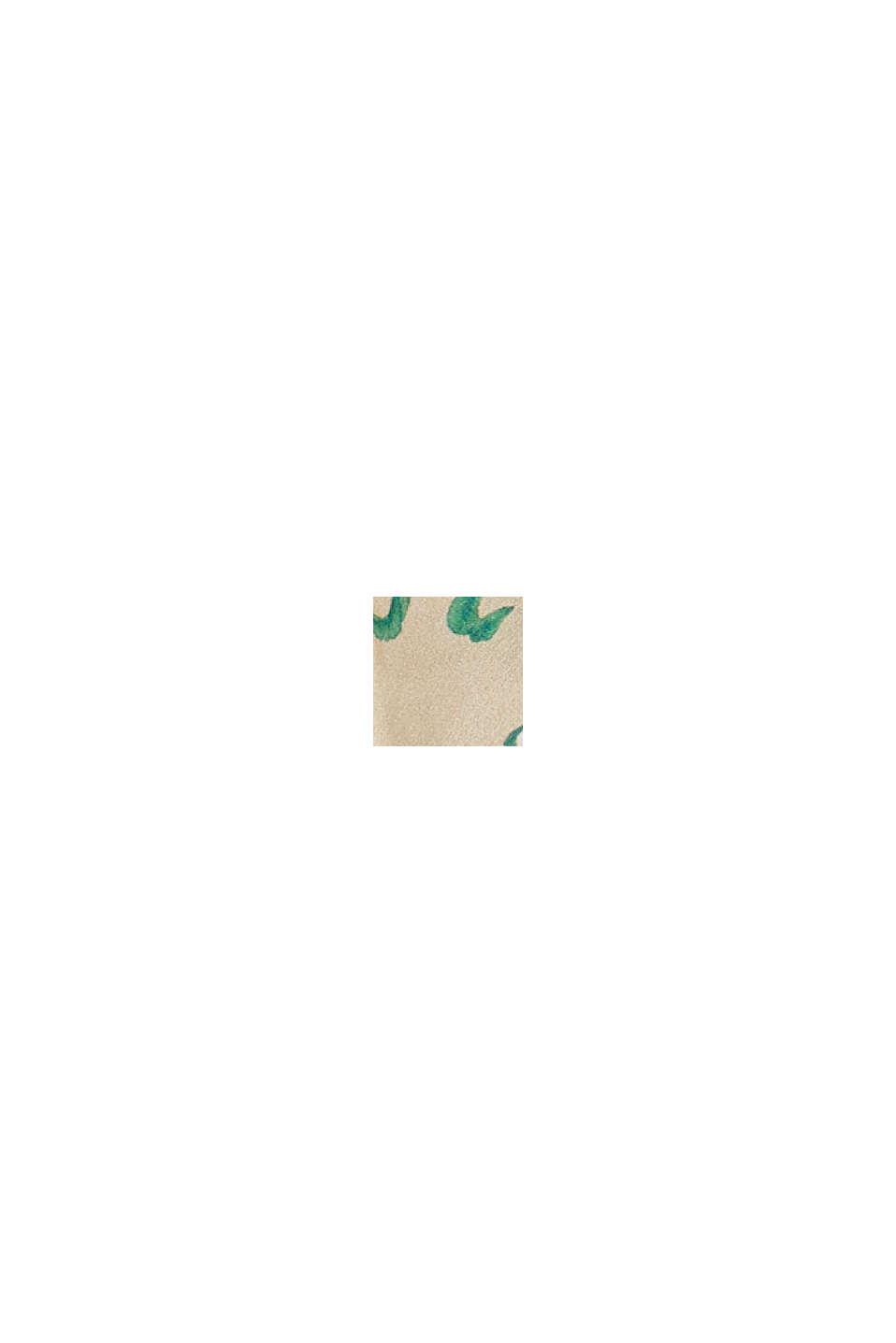À teneur en soie: le chouchou à motif fleuri, SAND, swatch