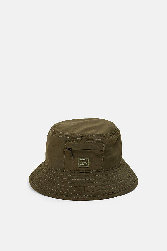 Bucket hat with a zip pocket, KHAKI GREEN, detail image number 0