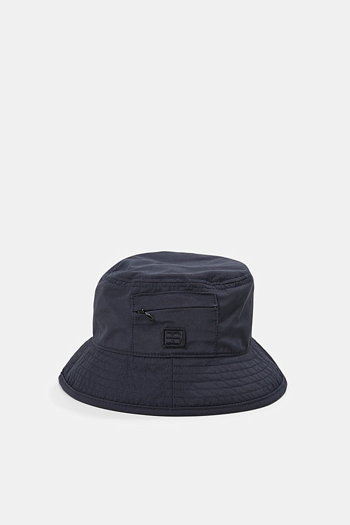 Bucket hat with a zip pocket, NAVY, detail image number 0
