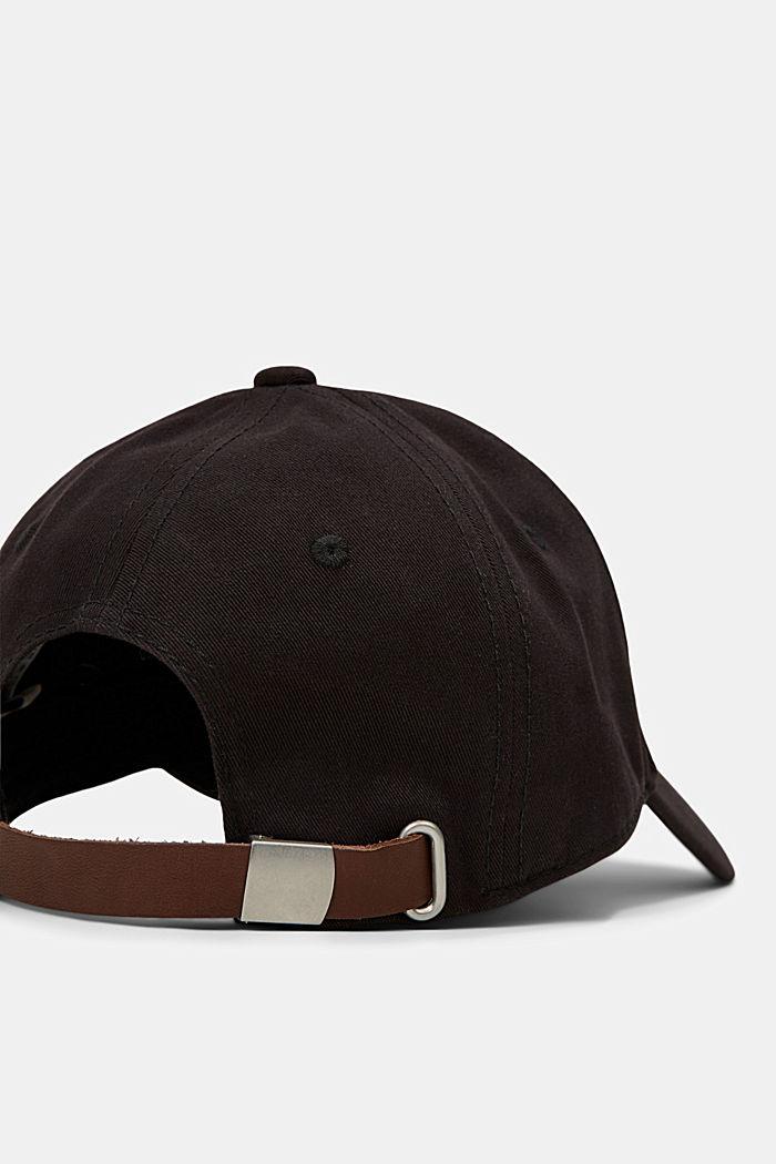 Gorra de béisbol en algodón, BLACK, detail image number 3