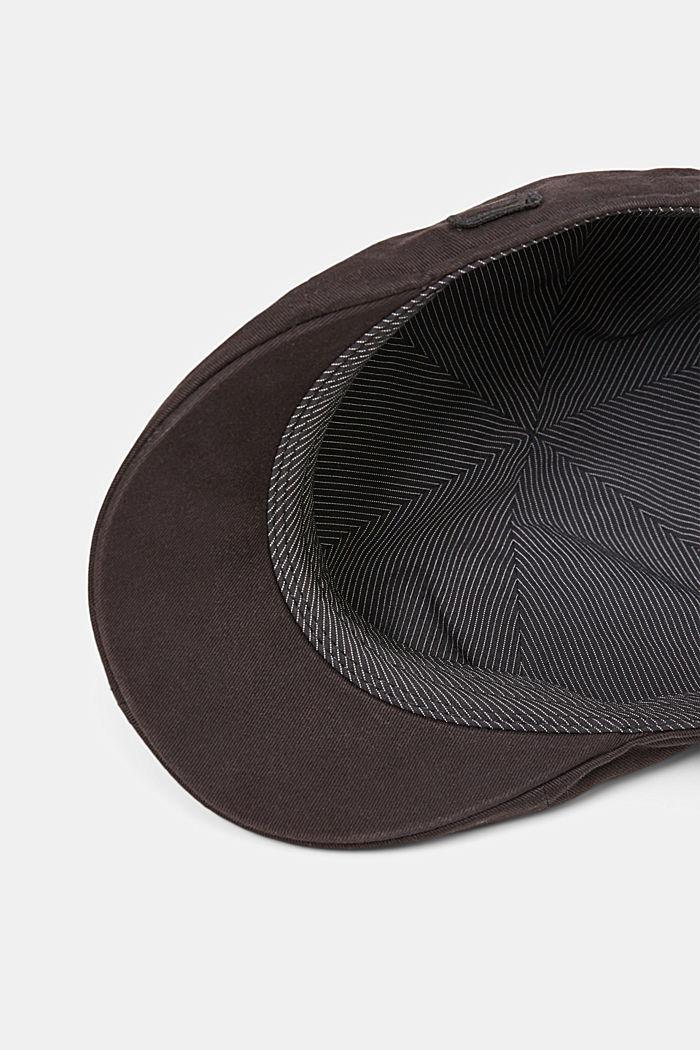 Cotton flat cap, BLACK, detail image number 3
