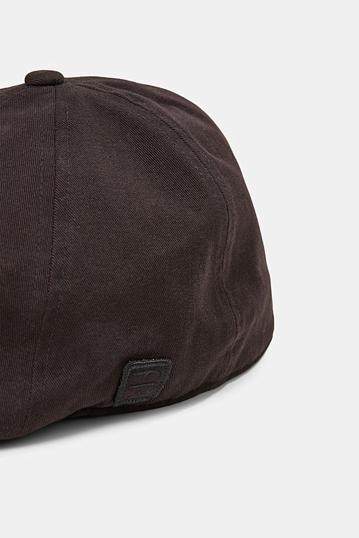 Cotton flat cap, BLACK, detail image number 1