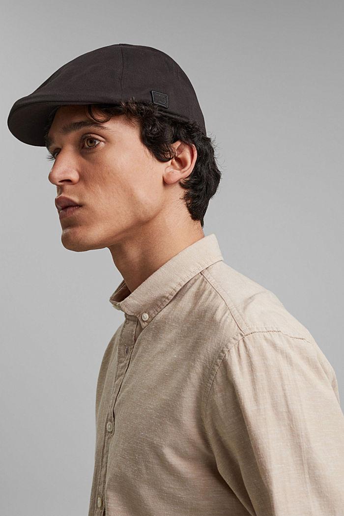 Cotton flat cap
