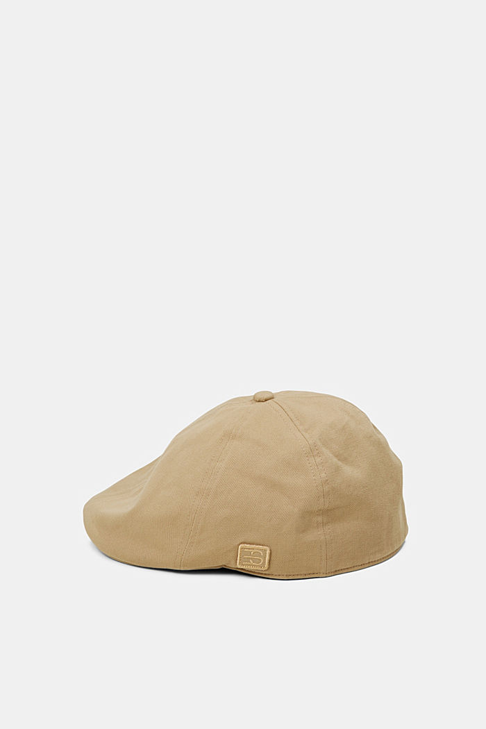 Cotton flat cap, CAMEL, detail image number 0