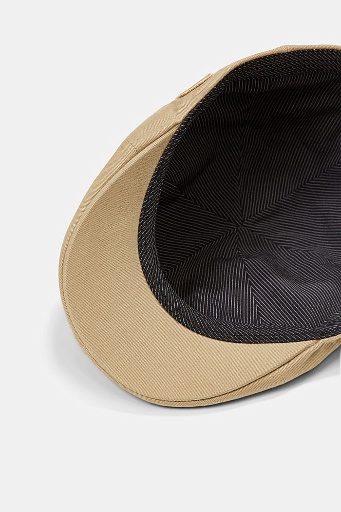 Cotton flat cap, CAMEL, detail image number 3