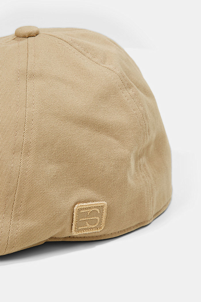 Cotton flat cap, CAMEL, detail image number 1