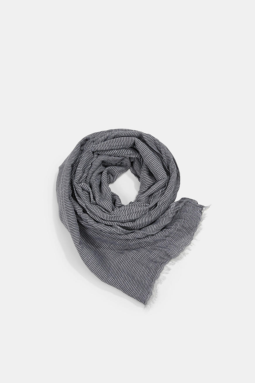 Linen blend: finely striped scarf
