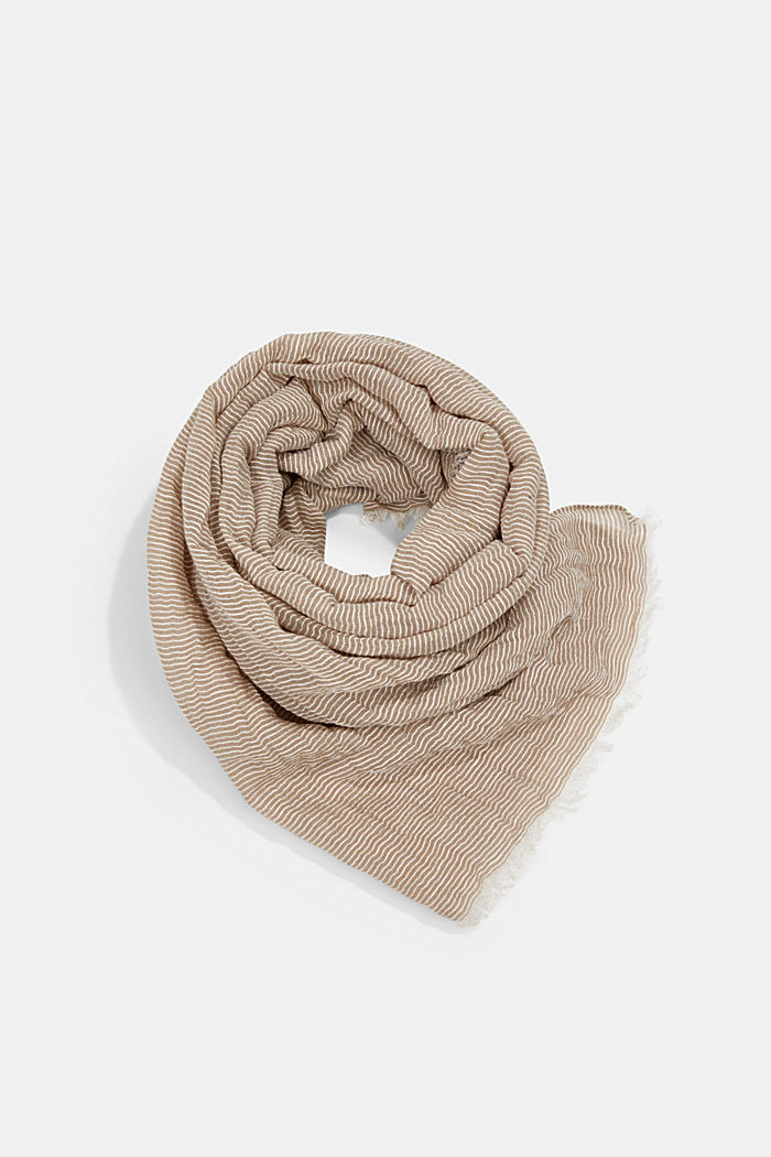 Mit Leinen: fein gestreifter Schal