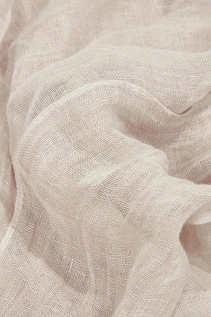 #ReimagineNaturalLifestyle: Sciarpa in lino biologico, LIGHT BEIGE, detail image number 2