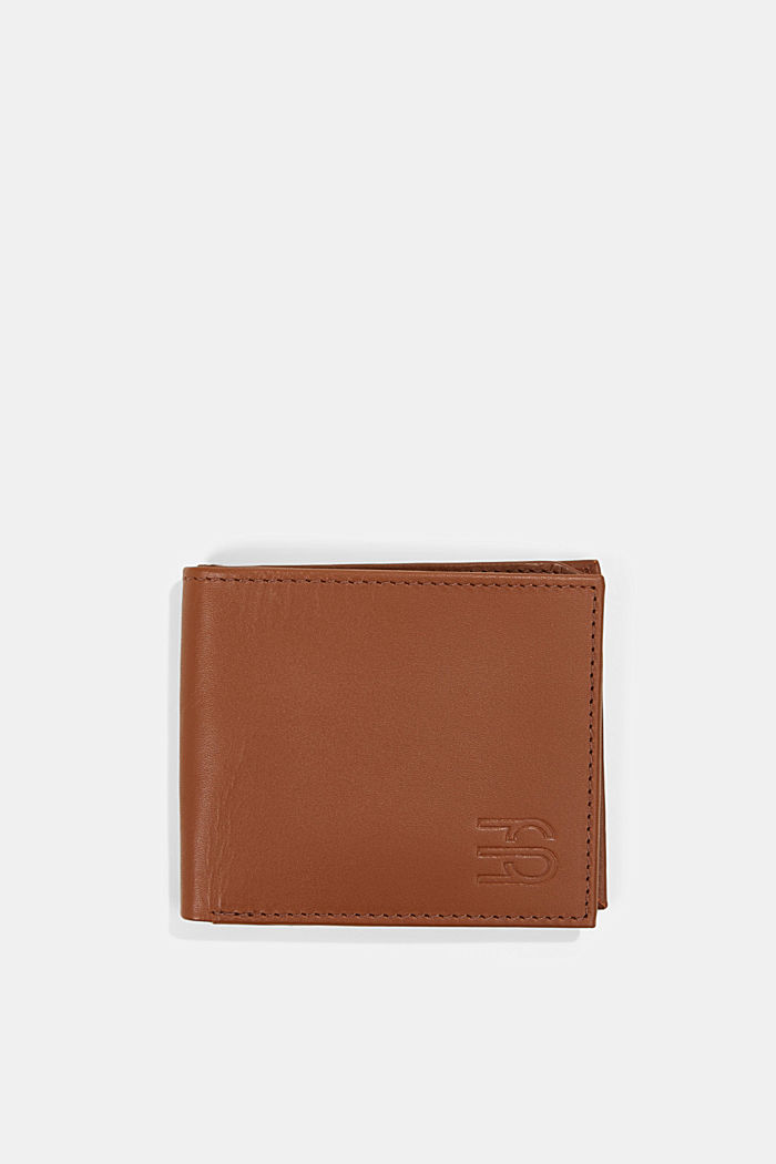 Wallet made of 100% chrome-free tanned leather, RUST BROWN, detail image number 0