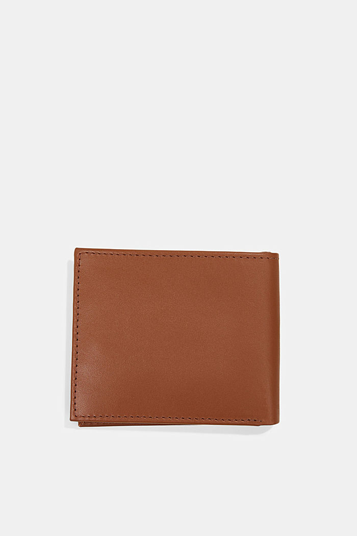 Wallet made of 100% chrome-free tanned leather, RUST BROWN, detail image number 2