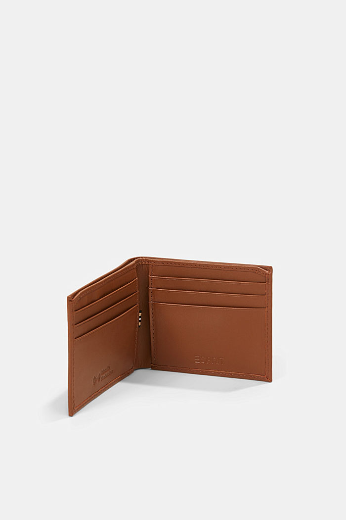 Wallet made of 100% chrome-free tanned leather, RUST BROWN, detail image number 3