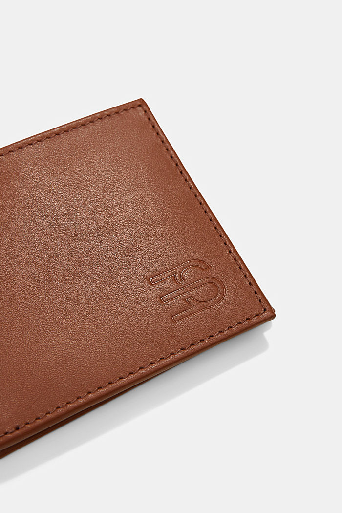 Wallet made of 100% chrome-free tanned leather, RUST BROWN, detail image number 1