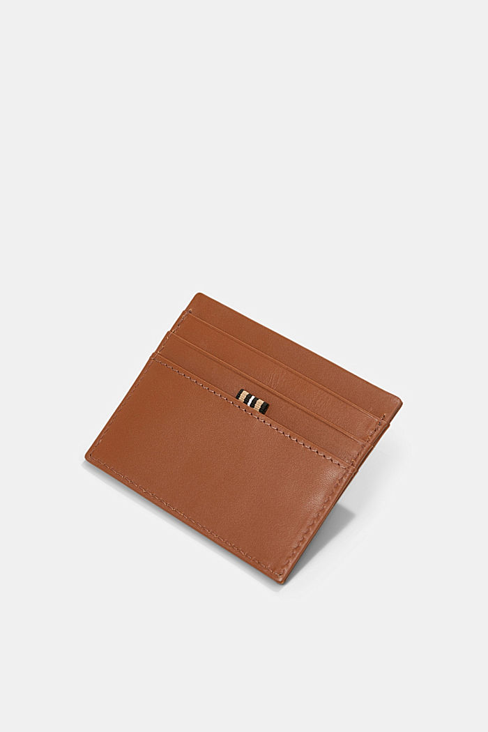 Card holder made of 100% chrome-free tanned leather, RUST BROWN, detail image number 1