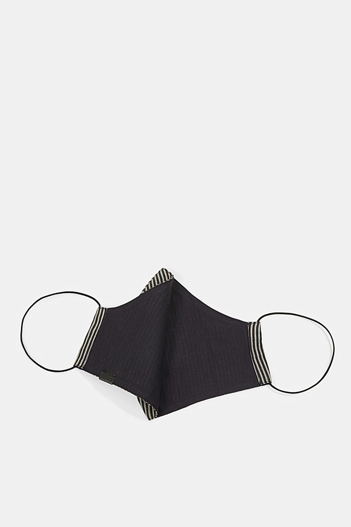 Face mask made of 100% organic cotton, BLACK, detail image number 2
