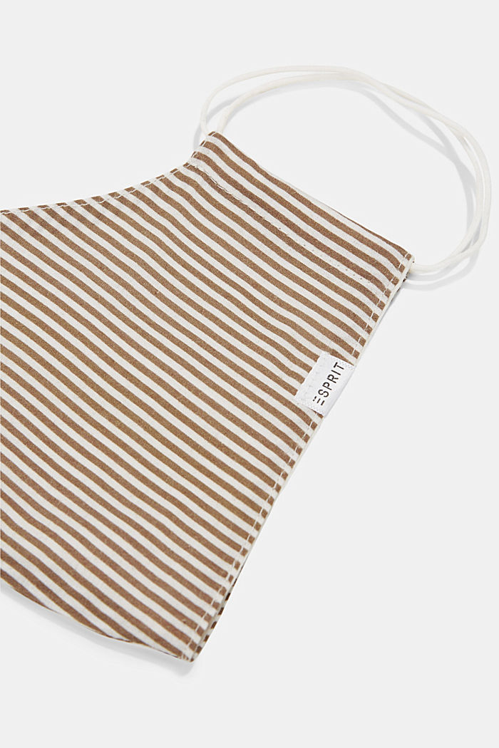 Face mask made of 100% organic cotton, CAMEL, detail image number 1