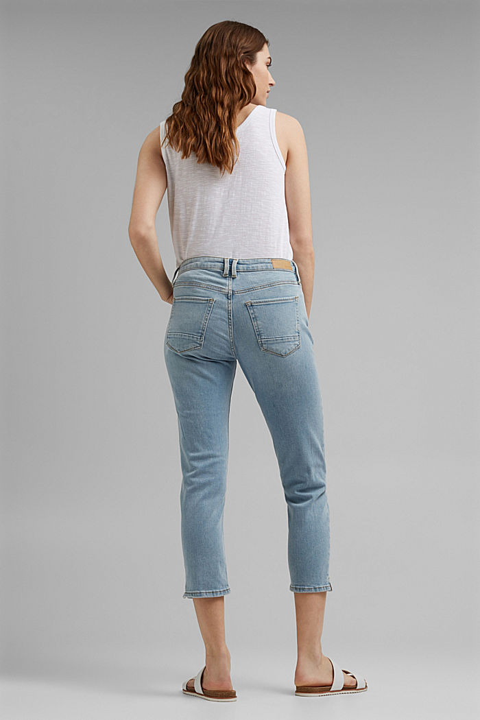 Capri jeans made of organic cotton, BLUE LIGHT WASHED, detail image number 3