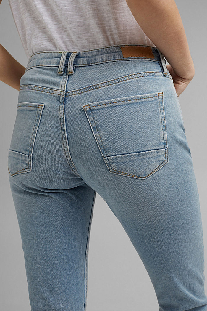 Capri jeans made of organic cotton, BLUE LIGHT WASHED, detail image number 5