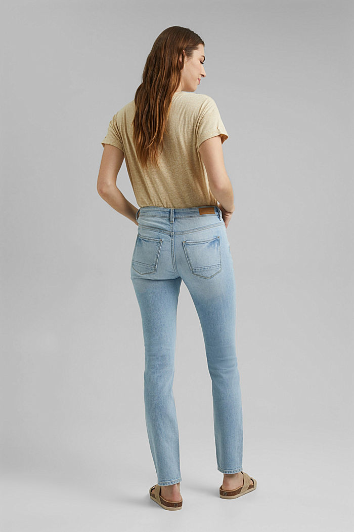 Stretch jeans containing organic cotton, BLUE BLEACHED, detail image number 3