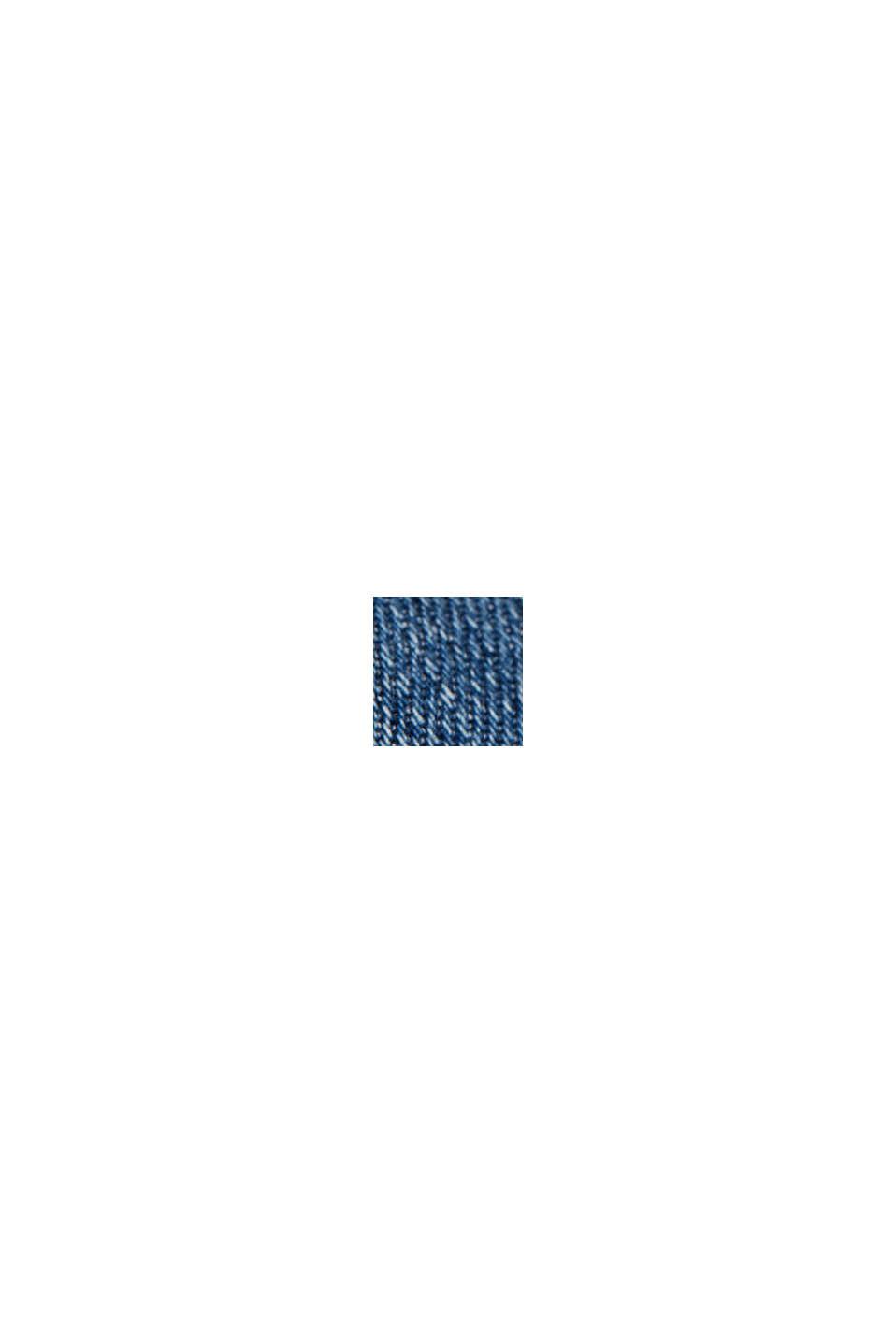 Vaqueros cortos en 100% algodón ecológico, BLUE MEDIUM WASHED, swatch