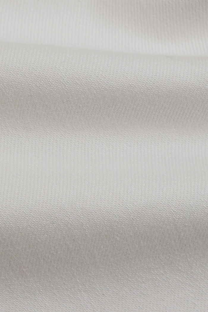 Organic cotton cropped jeans, OFF WHITE, detail image number 4