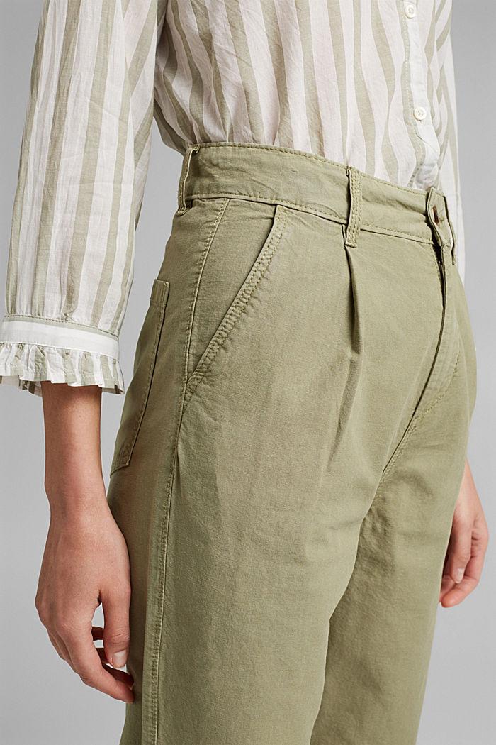 In cotone biologico/canapa: pantaloni stile chino, LIGHT KHAKI, detail image number 2