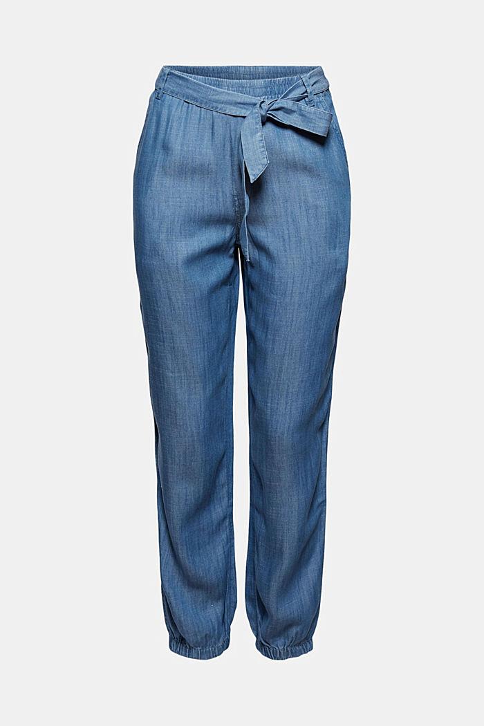 Aus TENCEL™: Jogg-Hose im Jeans-Look