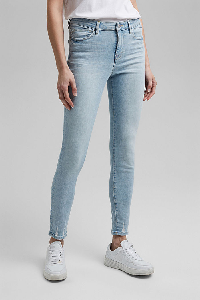 Stretch jeans containing organic cotton, BLUE BLEACHED, detail image number 0