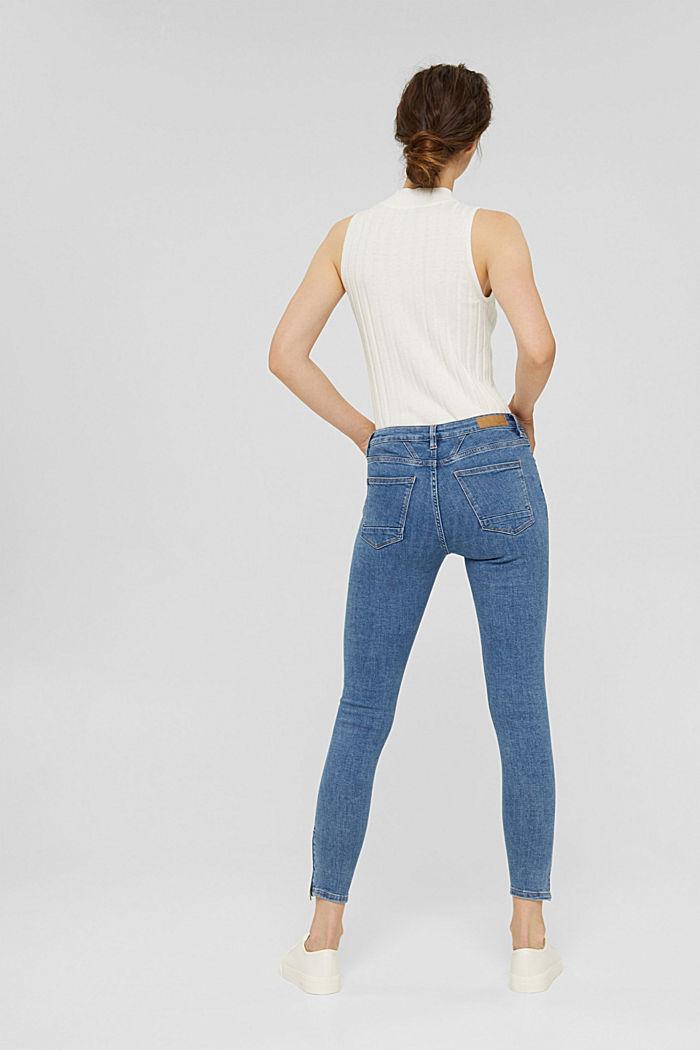Stretch-Jeans mit Zipper-Detail, BLUE MEDIUM WASHED, detail image number 3