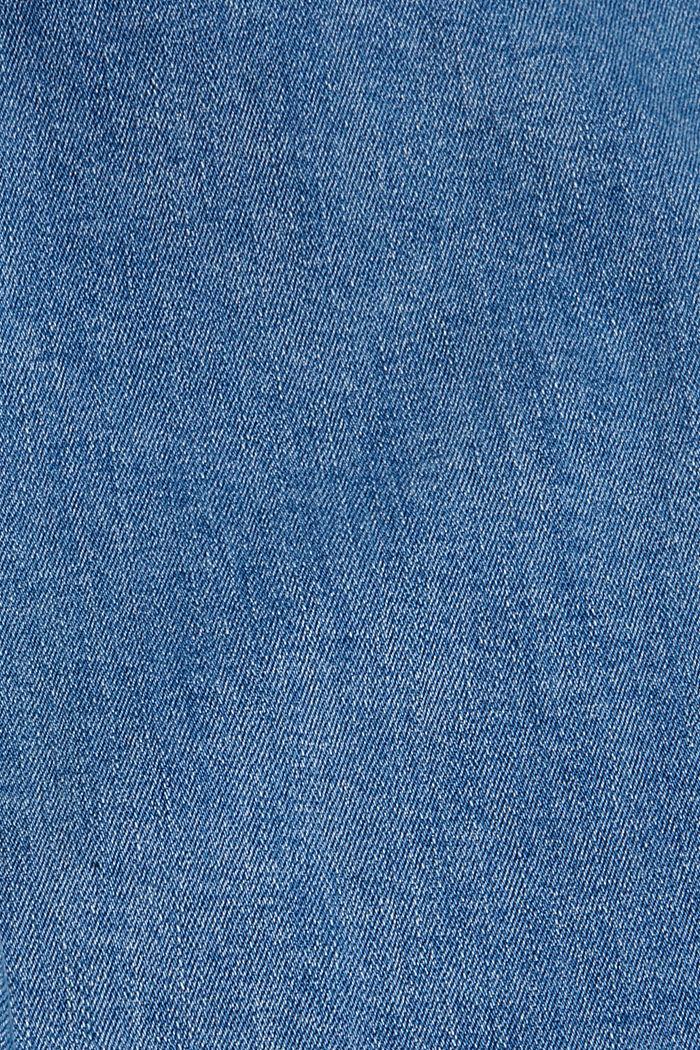 Stretch-Jeans mit Zipper-Detail, BLUE MEDIUM WASHED, detail image number 4