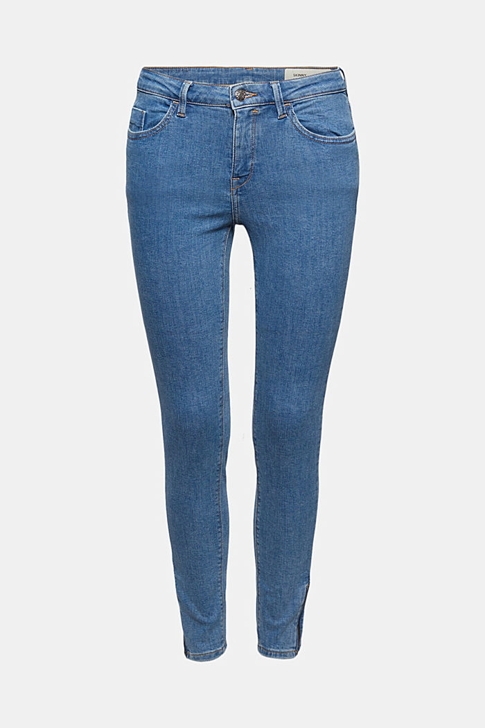 Stretch jeans with zip detail