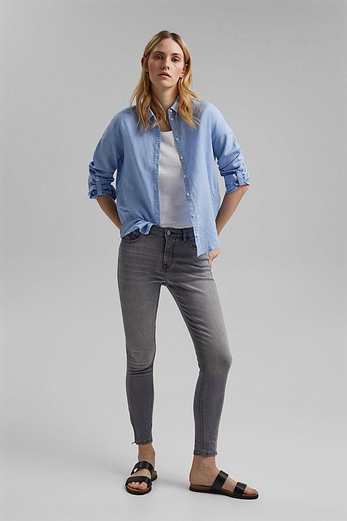 Stretch-Jeans mit Zipper-Details