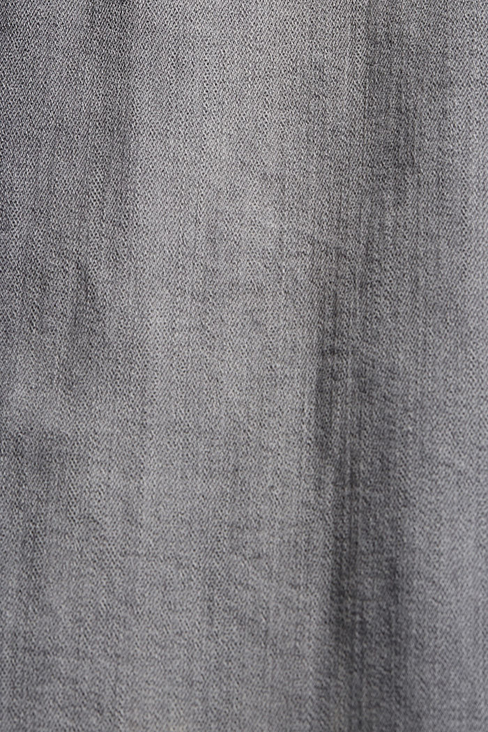 Stretch jeans with zip details, GREY MEDIUM WASHED, detail image number 4