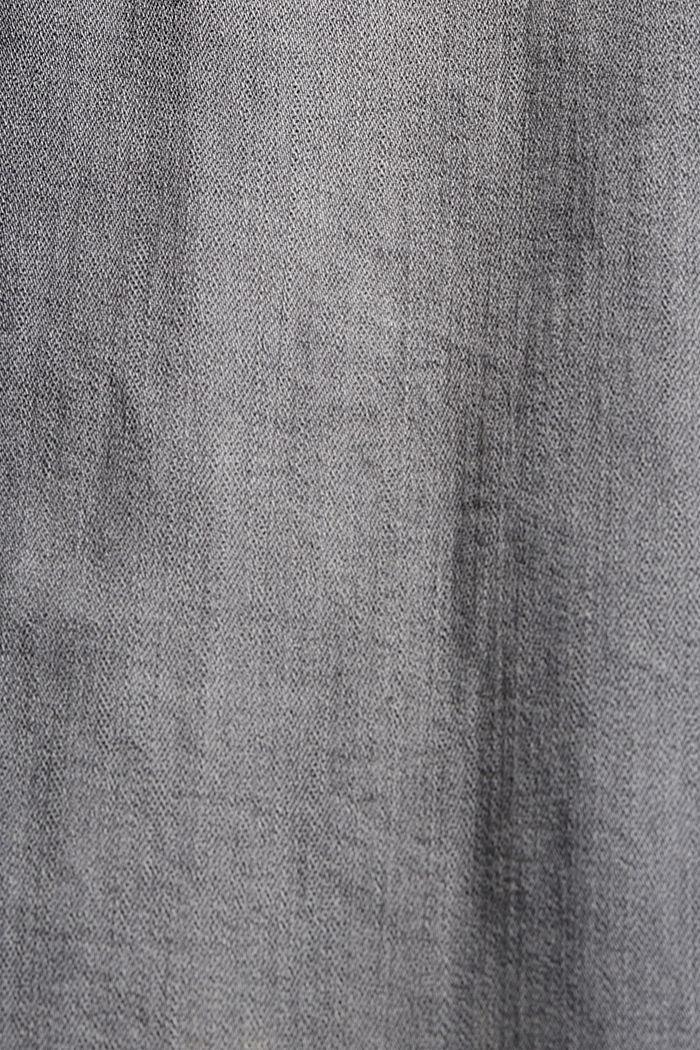 Stretchjeans met ritsdetails, GREY MEDIUM WASHED, detail image number 4