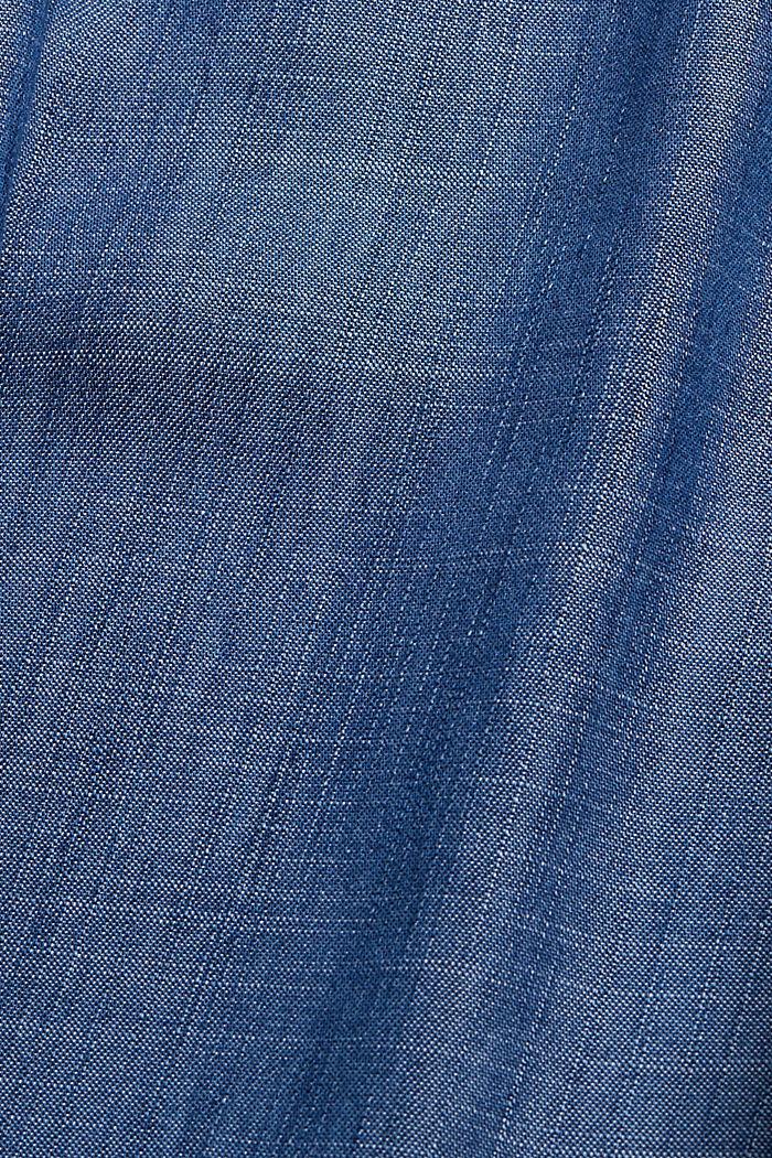 Aus TENCEL™: Hose mit weitem Bein, BLUE DARK WASHED, detail image number 4