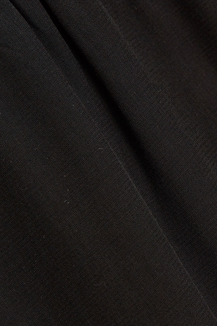 Palazzo trousers containing LENZING™ ECOVERO™, BLACK, detail image number 4