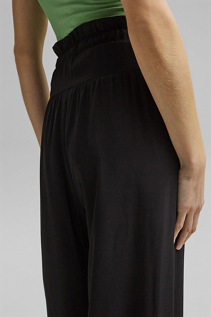 Palazzo trousers containing LENZING™ ECOVERO™, BLACK, detail image number 5