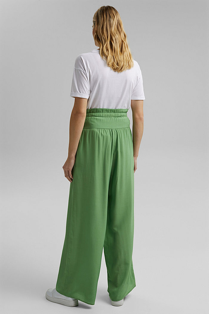 Palazzo trousers containing LENZING™ ECOVERO™, LEAF GREEN, detail image number 3