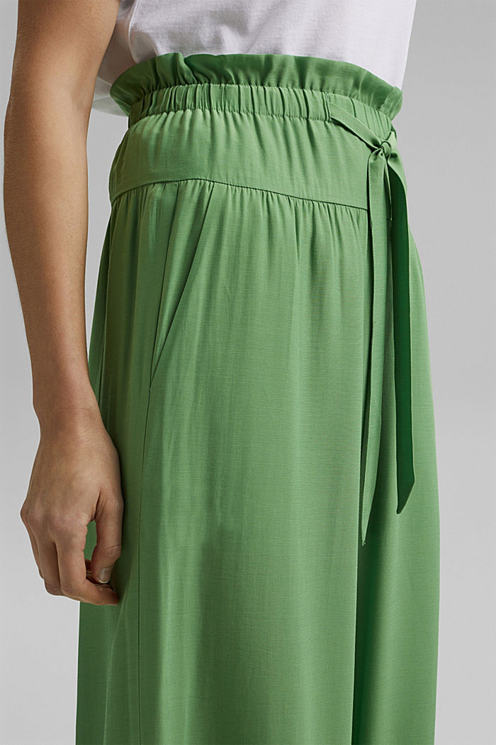 Palazzo trousers containing LENZING™ ECOVERO™, LEAF GREEN, detail image number 2