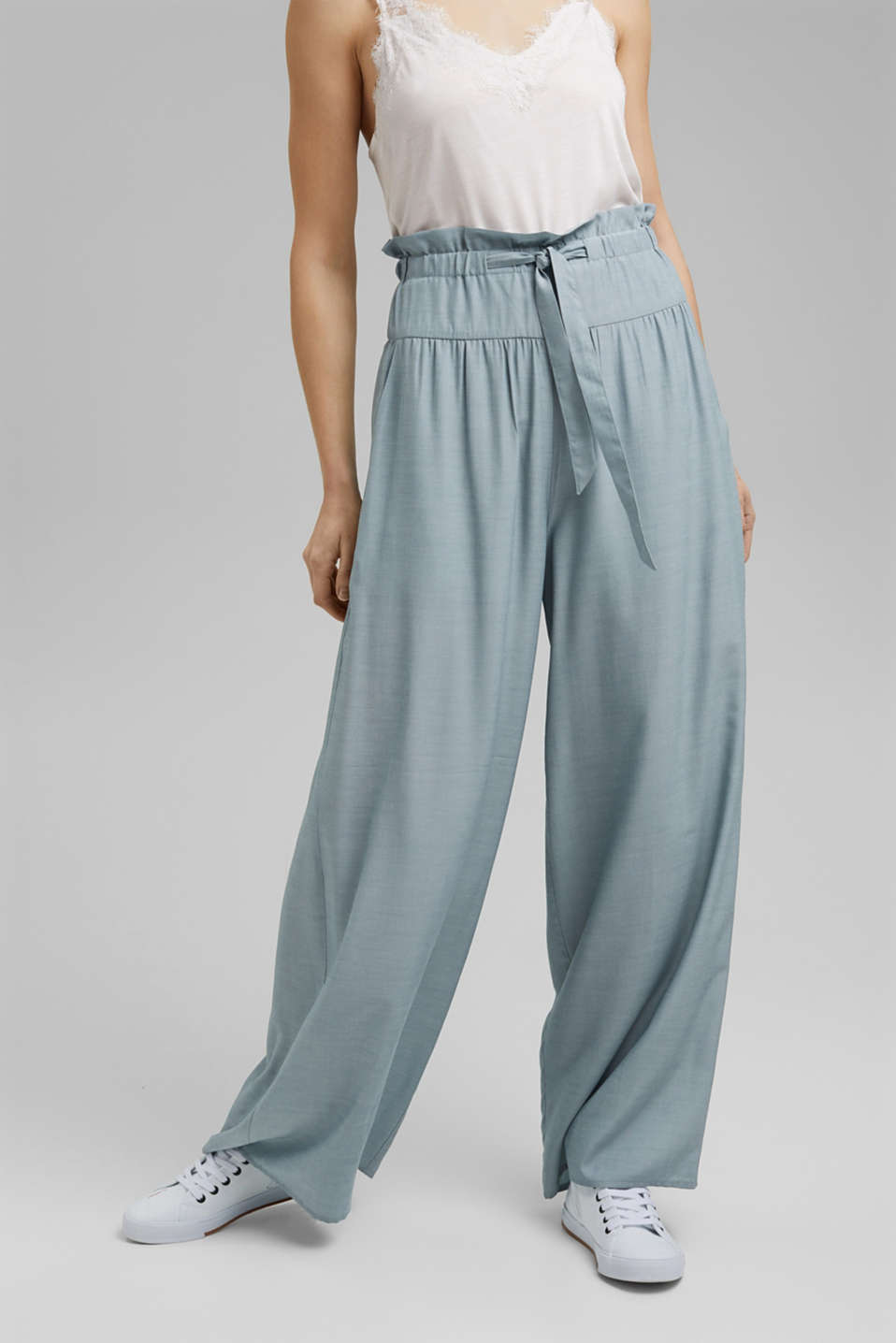 Esprit - Palazzo trousers containing LENZING™ ECOVERO™