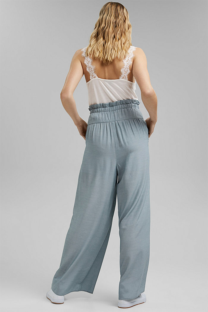 Palazzo trousers containing LENZING™ ECOVERO™, LIGHT BLUE, detail image number 3
