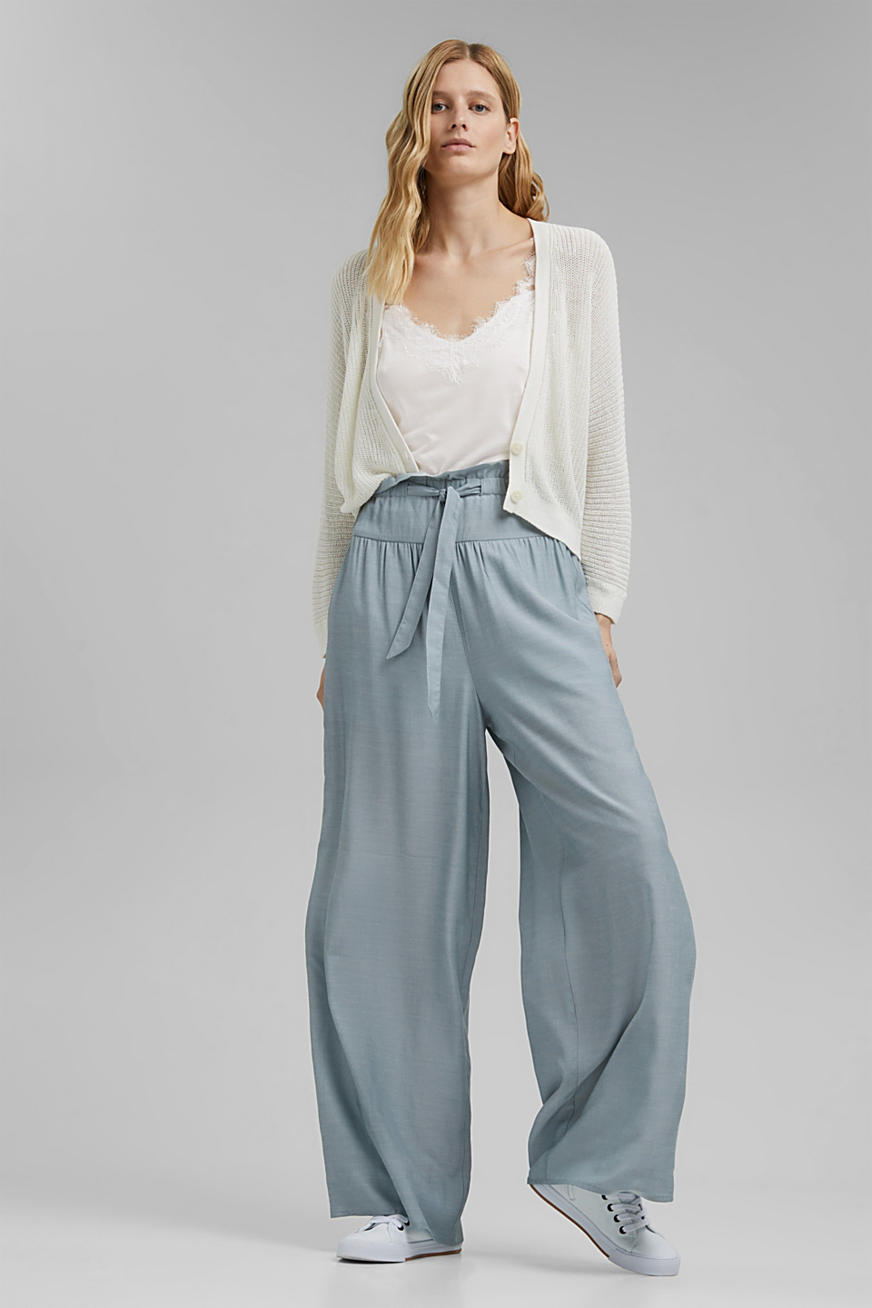 Palazzo trousers containing LENZING™ ECOVERO™