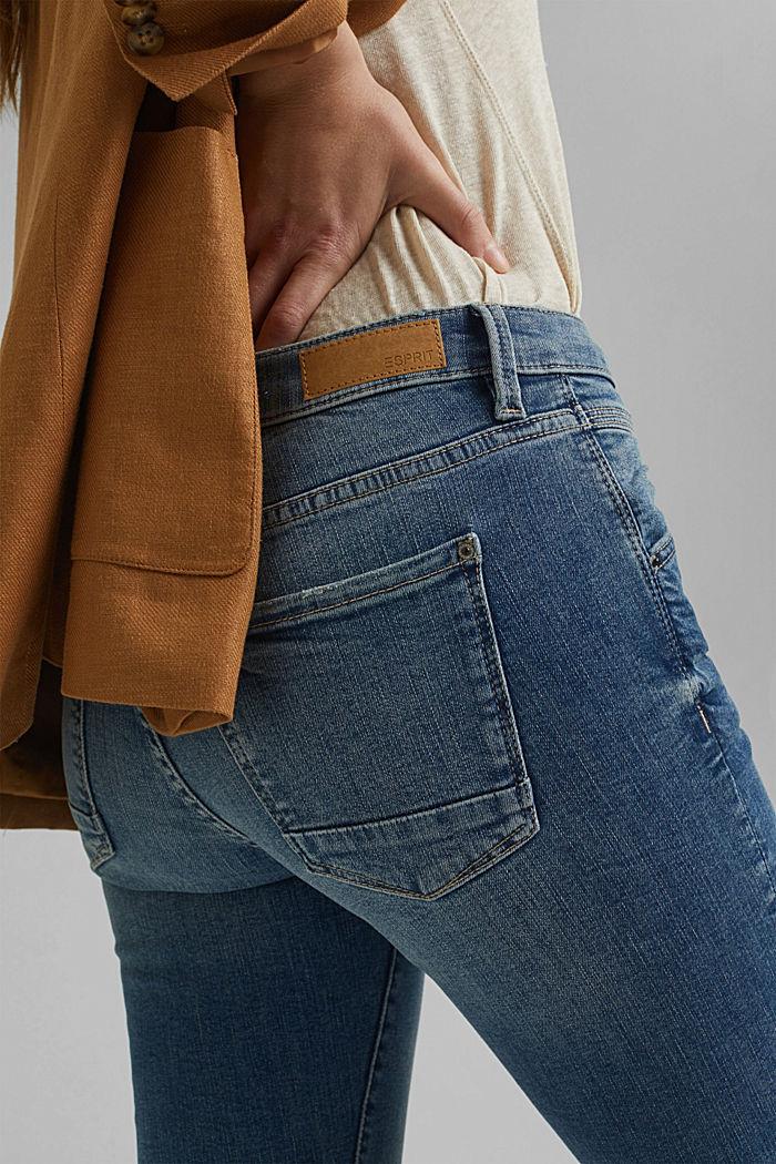 Stretch-Jeans aus Organic Cotton, BLUE MEDIUM WASHED, detail image number 5