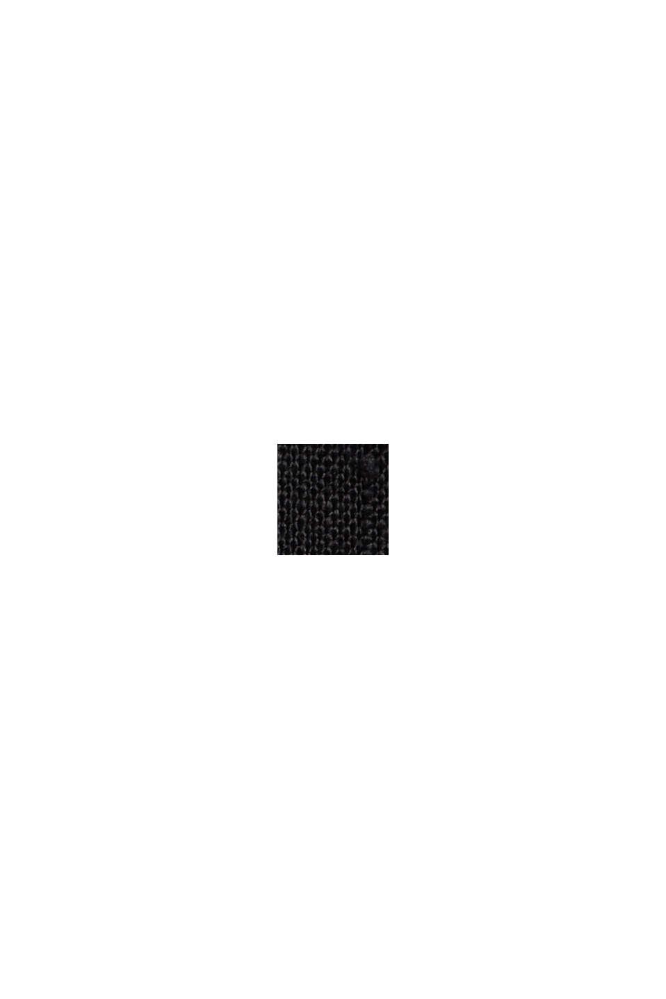 Aus 100% Leinen: Culotte mit elastischem Bund, BLACK, swatch