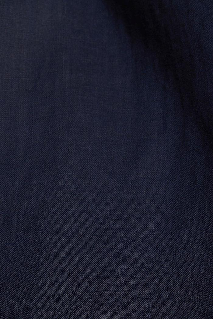 Aus 100% Leinen: Culotte mit elastischem Bund, NAVY, detail image number 4